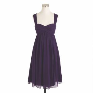 J. Crew Suzy Bridesmaid Dress Eggplant Size 2